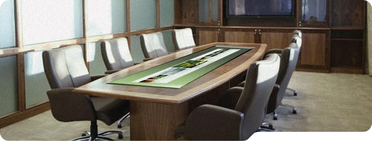 interactive boardroom table