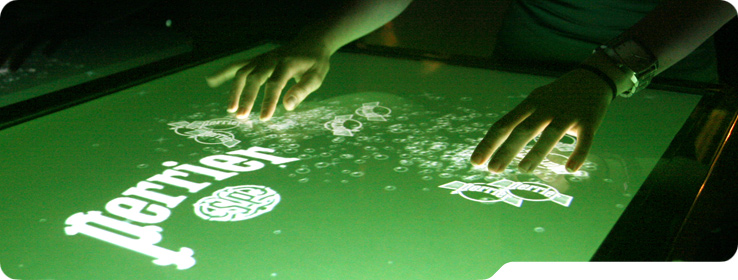 multi-touch surface in action